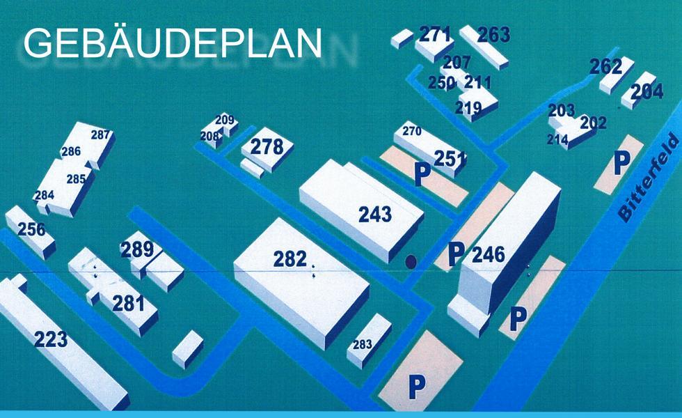 Gebäudeplan des IKR Gewerbepark